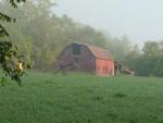 Nobles barn at morning milking time.