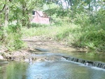 view of barn from Brush Creek