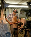 Mr. Shippey making a bowl.